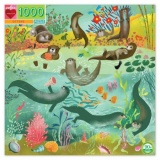 Eeboo 1000 Piece Puzzle - Otters